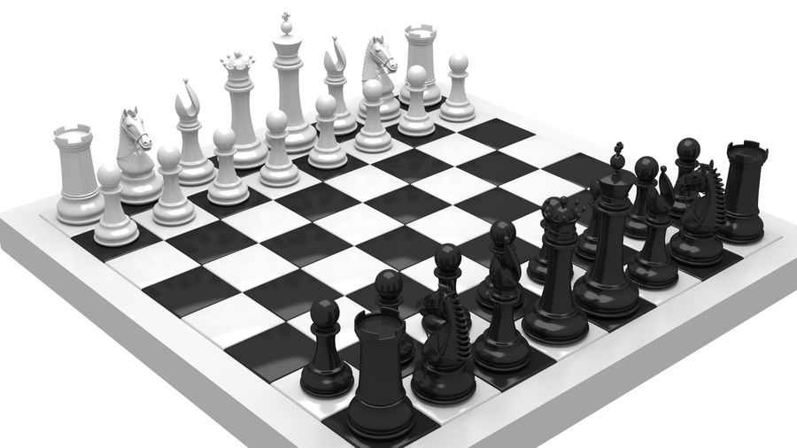 chess royalty-free 3d model - Preview no. 1