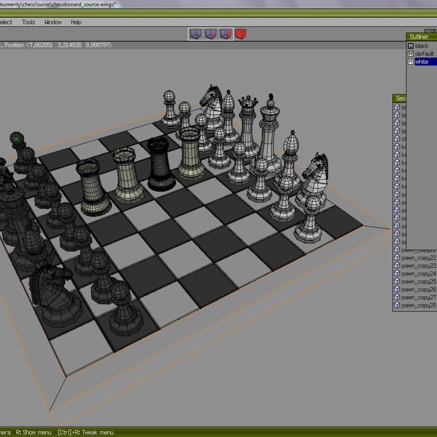 chess royalty-free 3d model - Preview no. 9