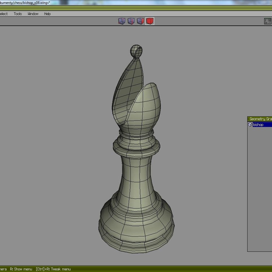 chess royalty-free 3d model - Preview no. 8