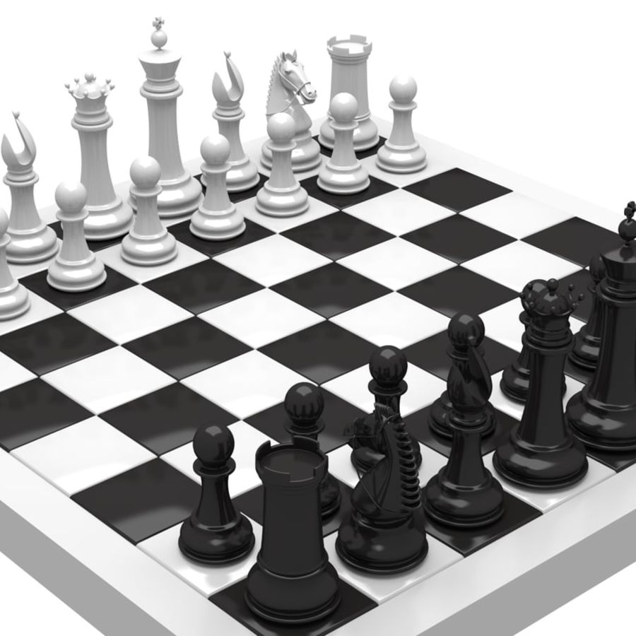 chess royalty-free 3d model - Preview no. 2