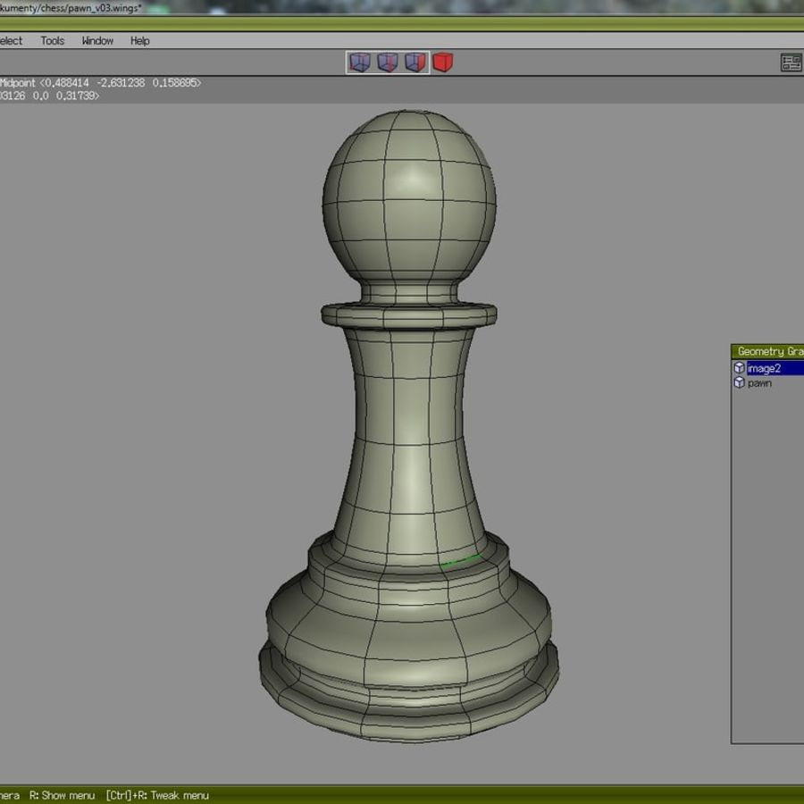 chess royalty-free 3d model - Preview no. 12
