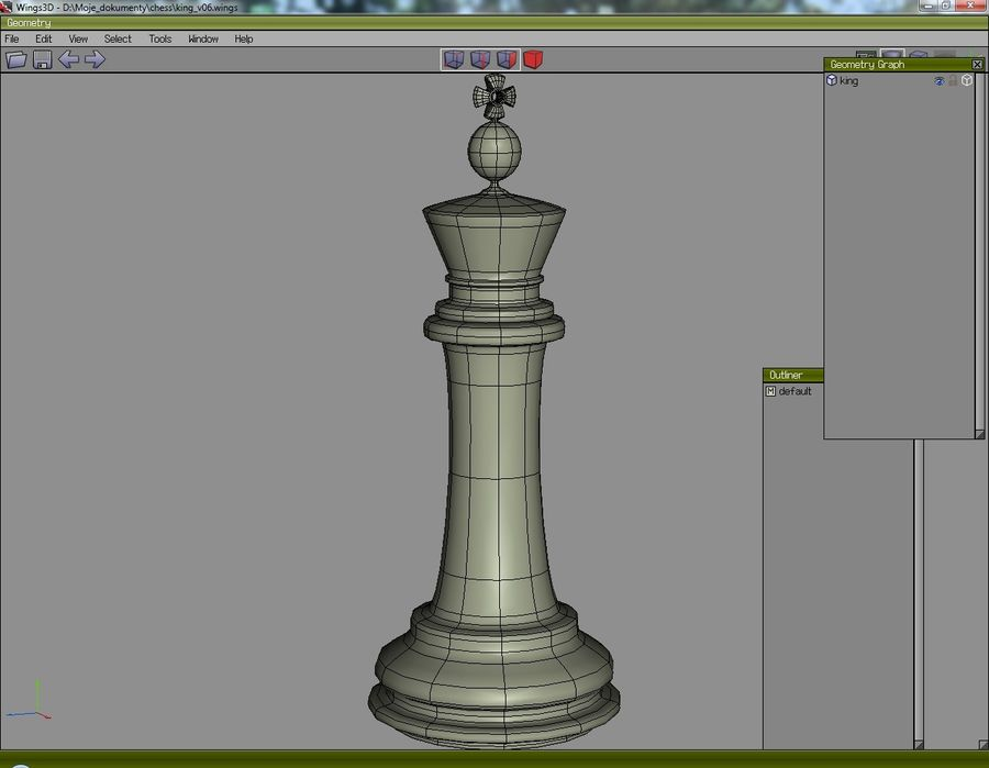 chess royalty-free 3d model - Preview no. 6