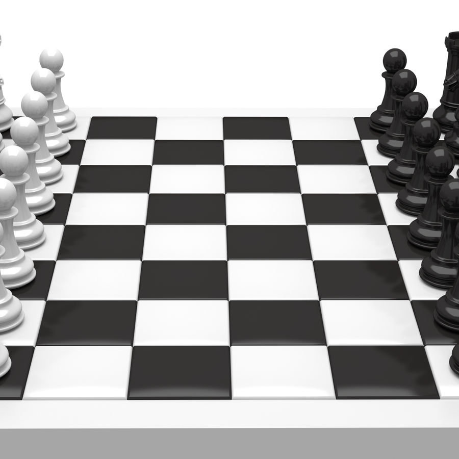chess royalty-free 3d model - Preview no. 4