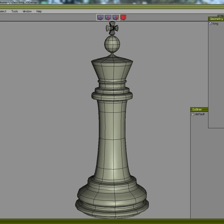 chess royalty-free 3d model - Preview no. 10