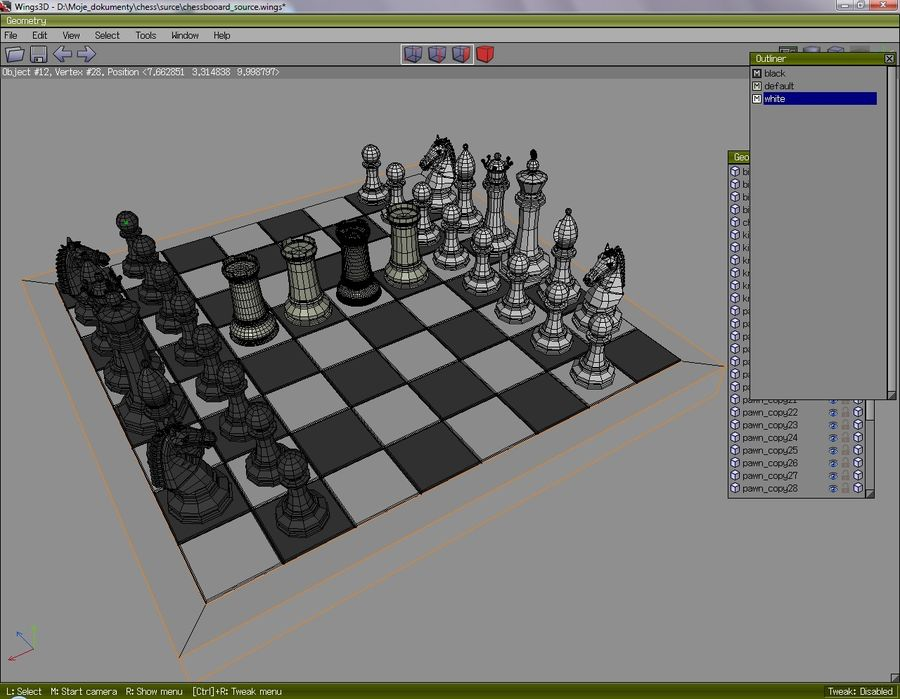 chess royalty-free 3d model - Preview no. 5