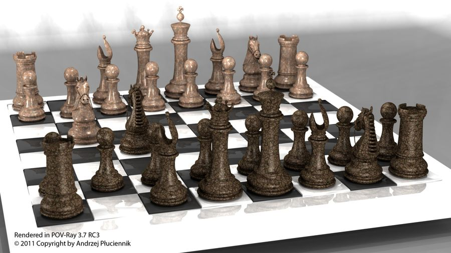 chess royalty-free 3d model - Preview no. 3