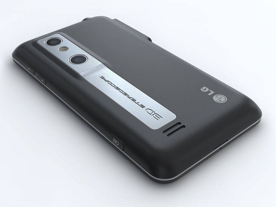 LG Optimus 3D royalty-free 3d model - Preview no. 11