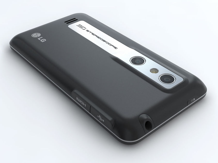 LG Optimus 3D royalty-free 3d model - Preview no. 10
