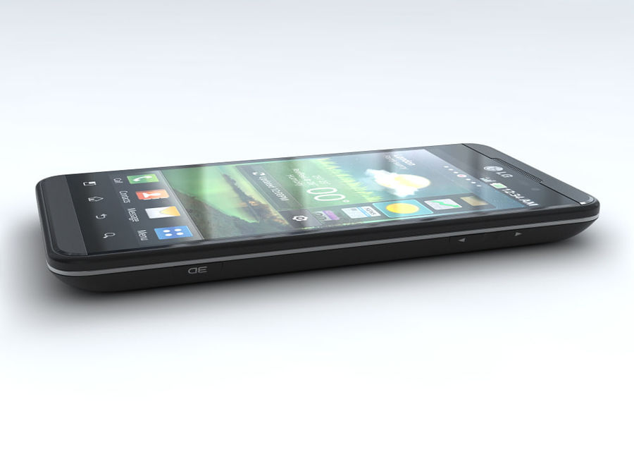 LG Optimus 3D royalty-free 3d model - Preview no. 8