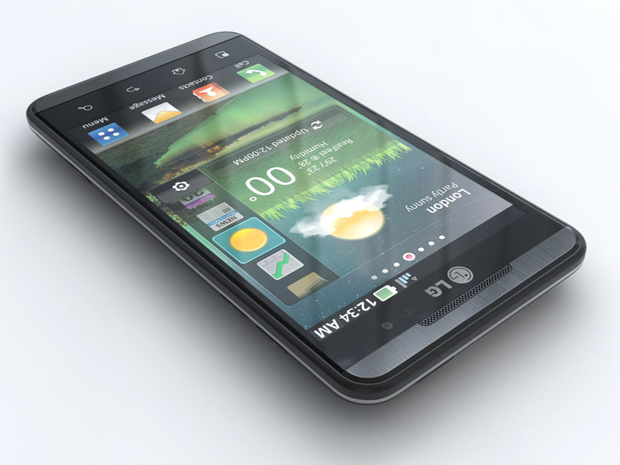 LG Optimus 3D royalty-free 3d model - Preview no. 3