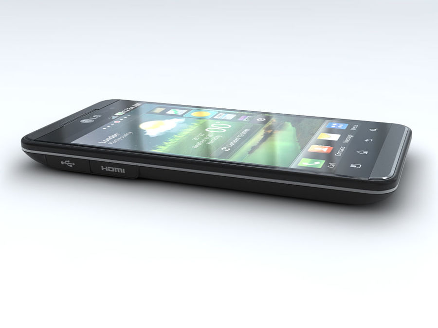 LG Optimus 3D royalty-free 3d model - Preview no. 7