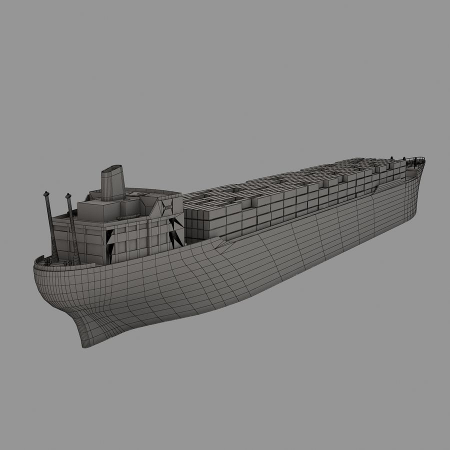 (Cargo) Container ship royalty-free 3d model - Preview no. 8