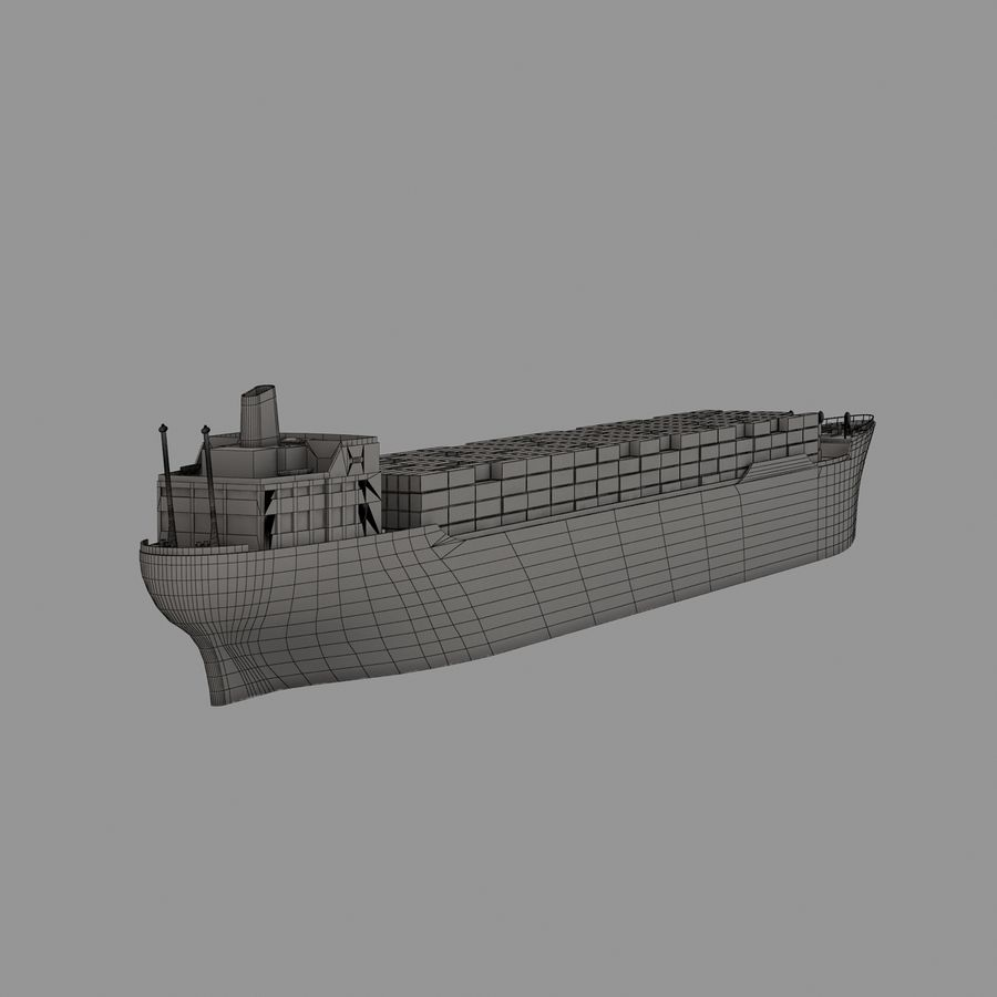 (Cargo) Container ship royalty-free 3d model - Preview no. 4