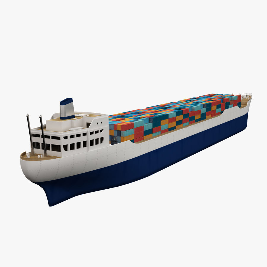 (Cargo) Container ship royalty-free 3d model - Preview no. 7