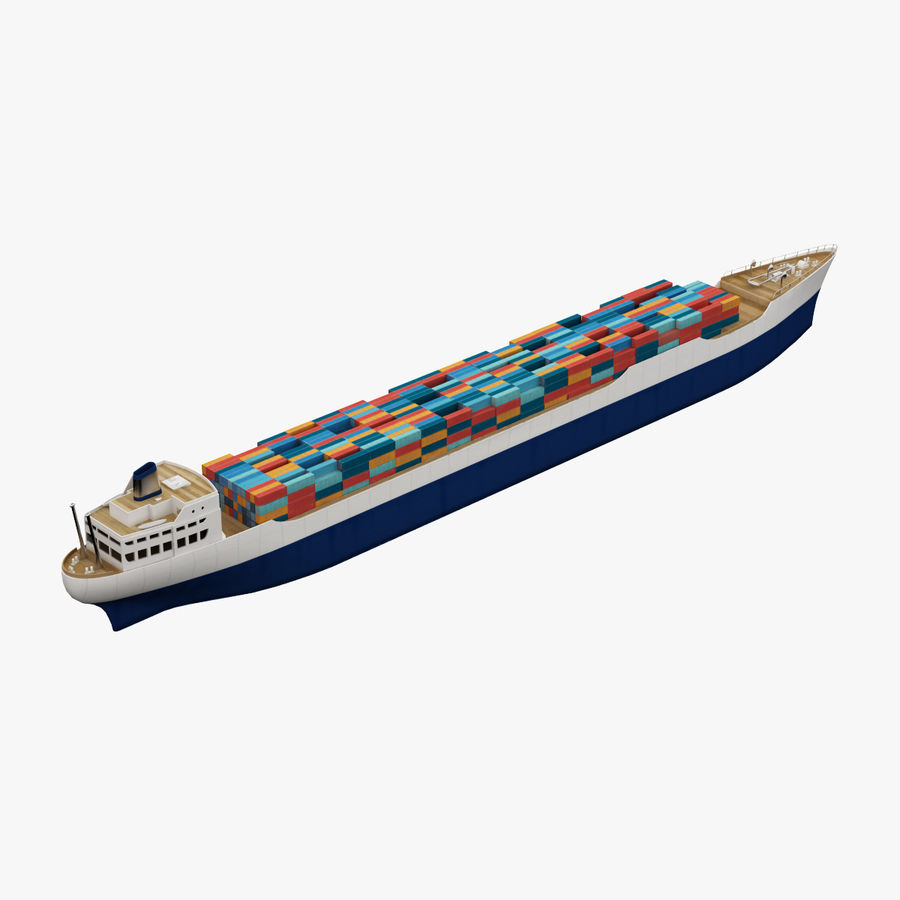 (Cargo) Container ship royalty-free 3d model - Preview no. 5