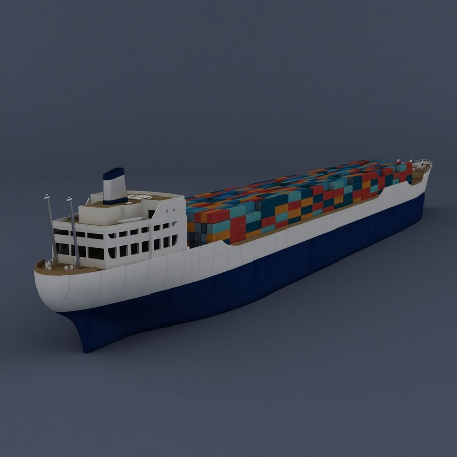 (Cargo) Container ship royalty-free 3d model - Preview no. 1