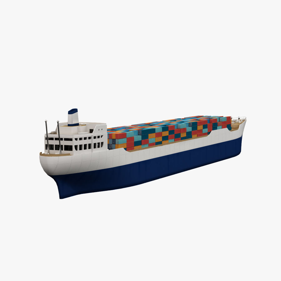 (Cargo) Container ship royalty-free 3d model - Preview no. 3
