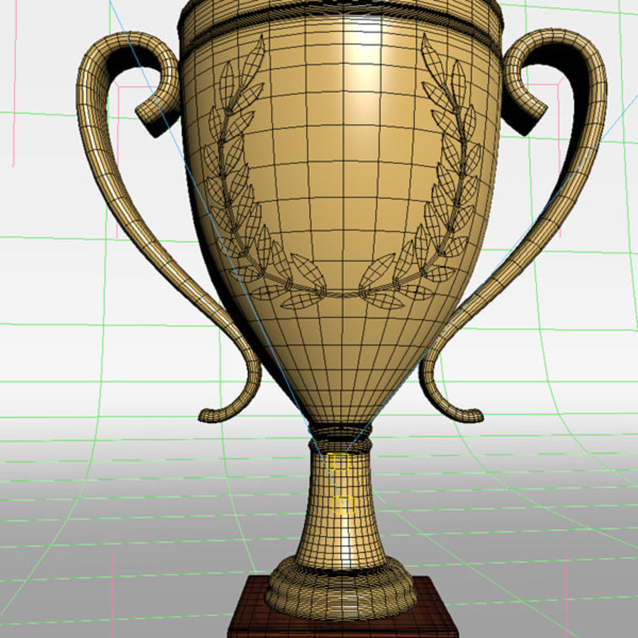Trofeo royalty-free modelo 3d - Preview no. 10