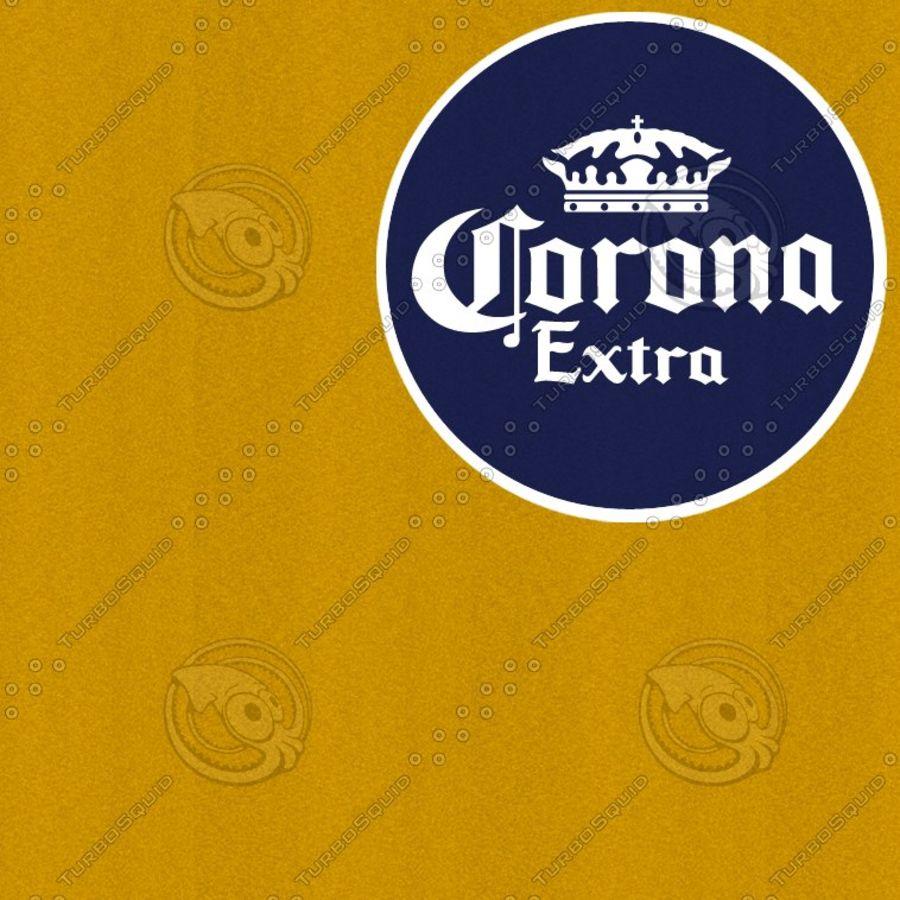 Botella de cerveza corona royalty-free modelo 3d - Preview no. 4