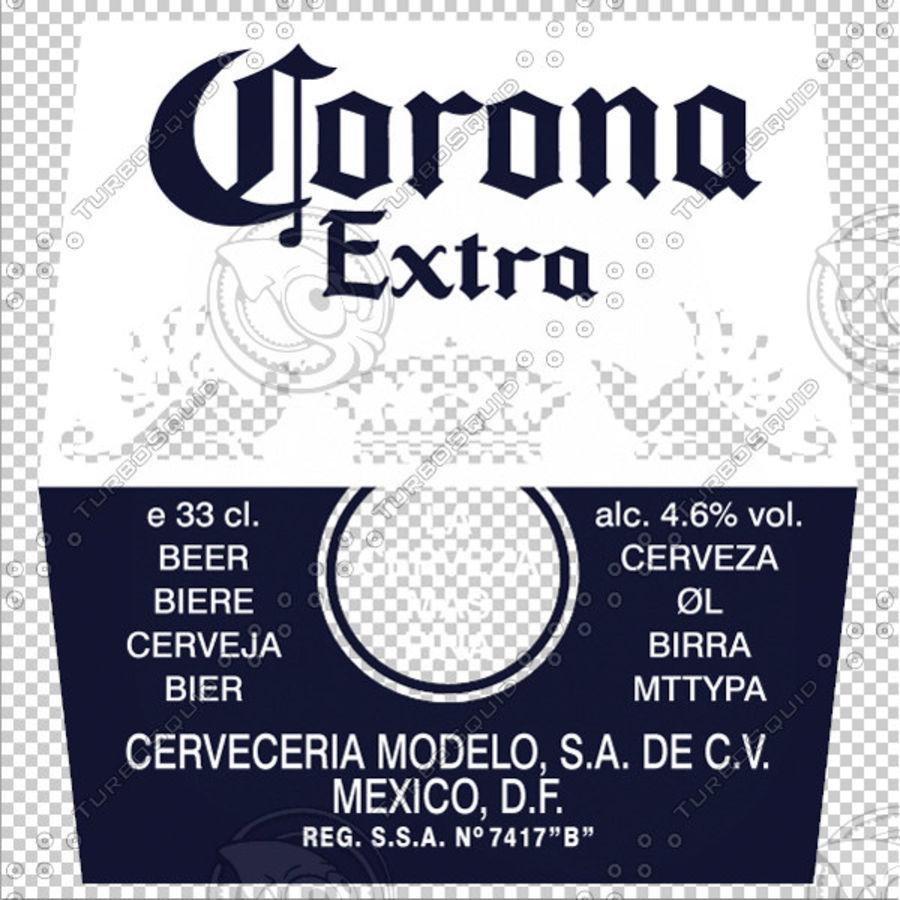 Botella de cerveza corona royalty-free modelo 3d - Preview no. 3