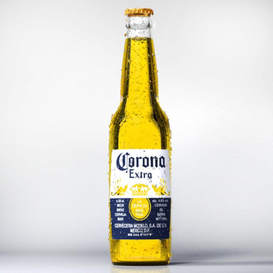 Botella de cerveza corona royalty-free modelo 3d - Preview no. 1