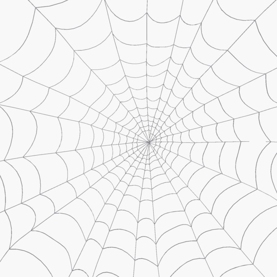 Spider Web royalty-free 3d model - Preview no. 1