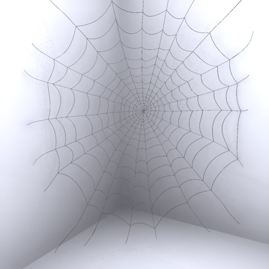 Spider Web royalty-free 3d model - Preview no. 4