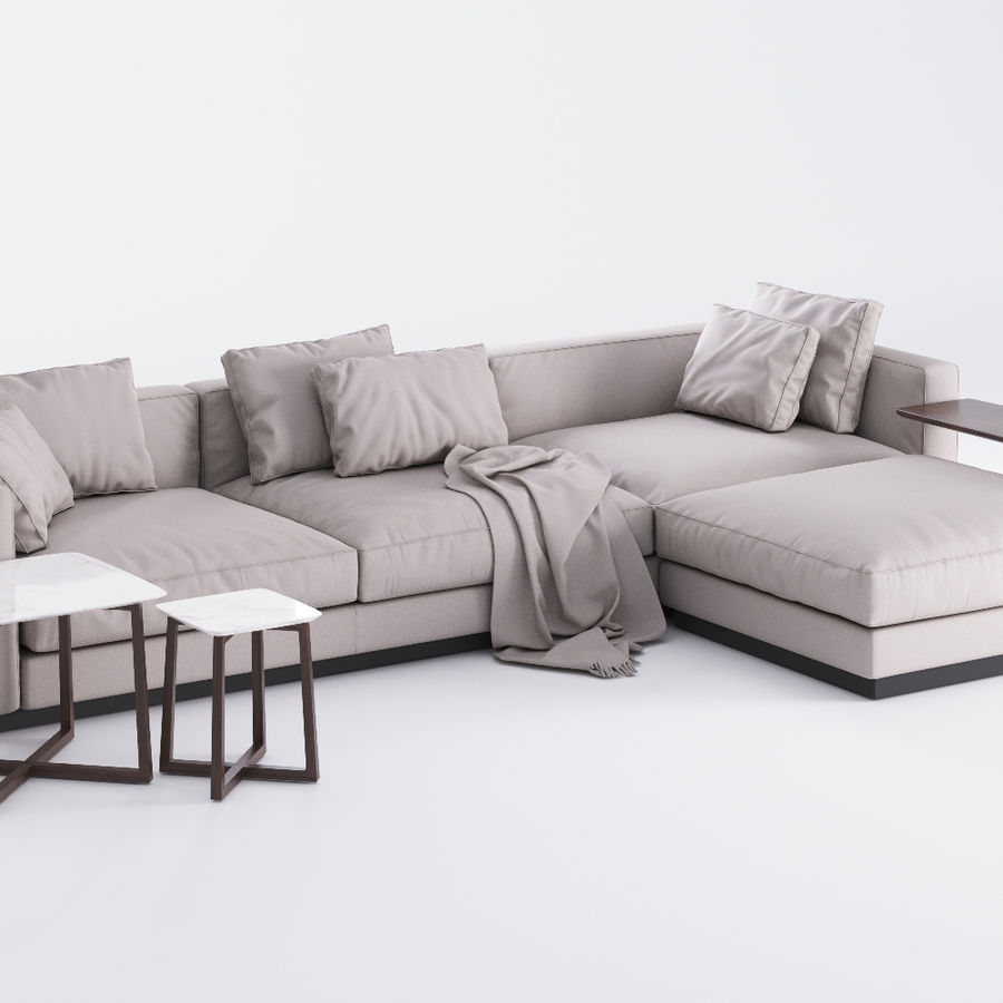 Flexform Pleasure Sofa royalty-free 3d model - Preview no. 1