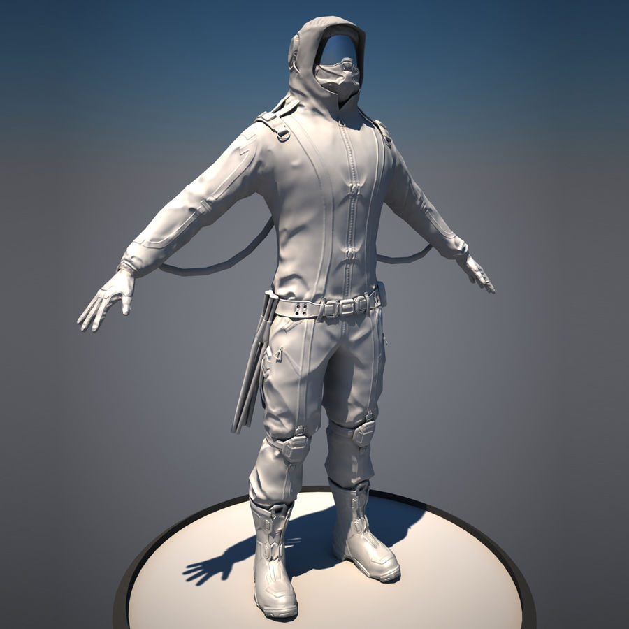Zbrush Boots scifi pilot royalty-free 3d model - Preview no. 5