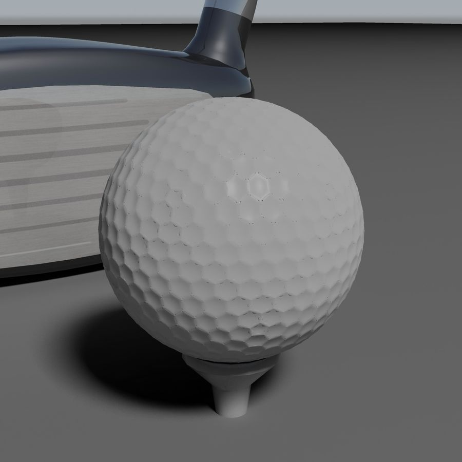 Golf Equipment royalty-free 3d model - Preview no. 7