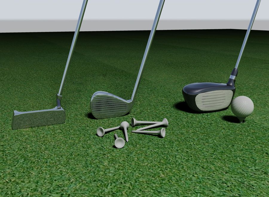 Golf Equipment royalty-free 3d model - Preview no. 1