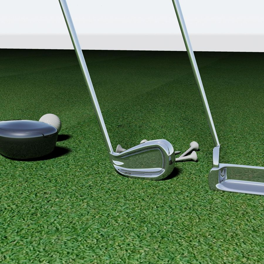 Golf Equipment royalty-free 3d model - Preview no. 2