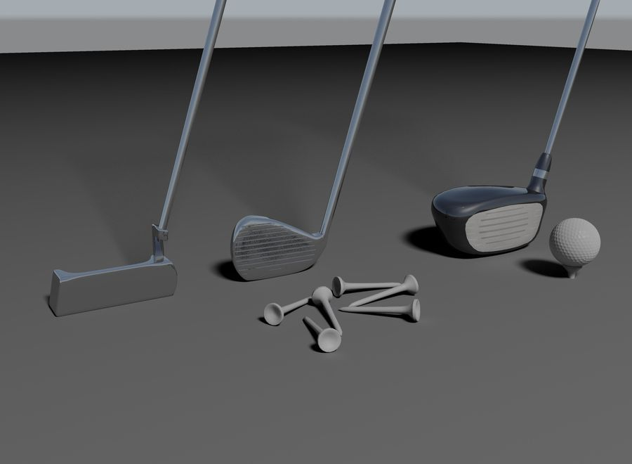 Golf Equipment royalty-free 3d model - Preview no. 3
