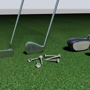 Attrezzatura da golf 3d model