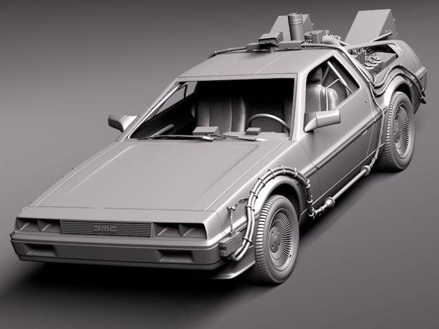 DeLorean DMC-12 Back To The Future royalty-free 3d model - Preview no. 9