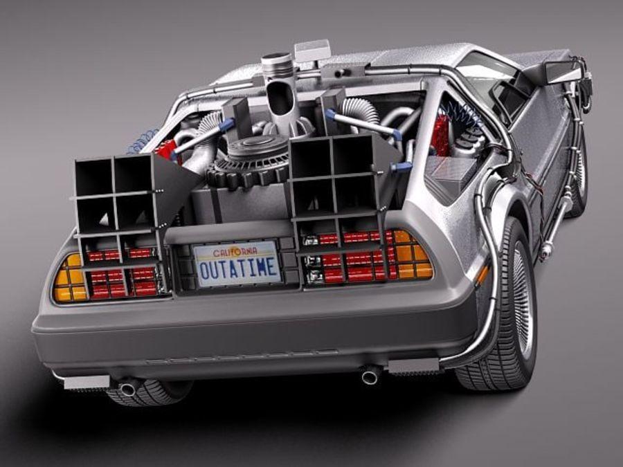 DeLorean DMC-12 Back To The Future royalty-free 3d model - Preview no. 5