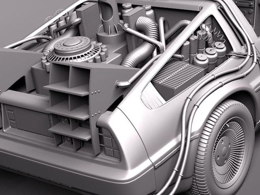 DeLorean DMC-12 Back To The Future royalty-free 3d model - Preview no. 11