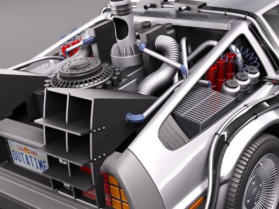 DeLorean DMC-12 Back To The Future royalty-free 3d model - Preview no. 4