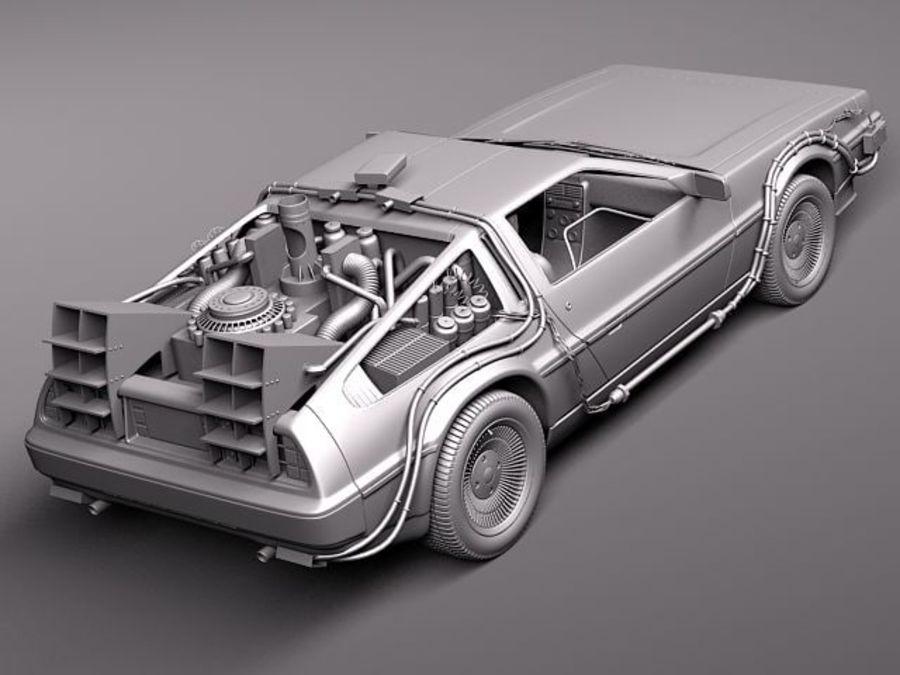 DeLorean DMC-12 Back To The Future royalty-free 3d model - Preview no. 12