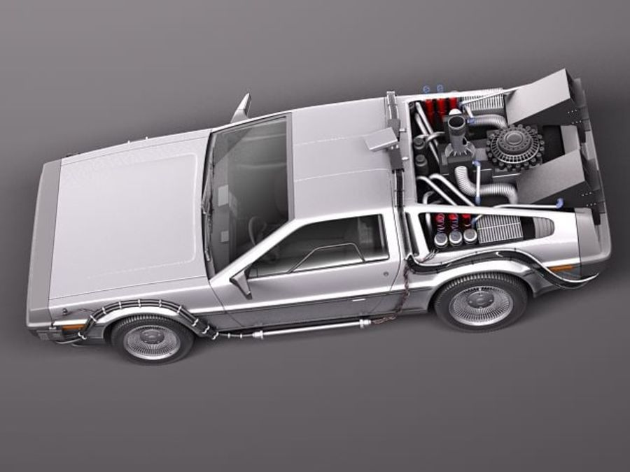 DeLorean DMC-12 Back To The Future royalty-free 3d model - Preview no. 8