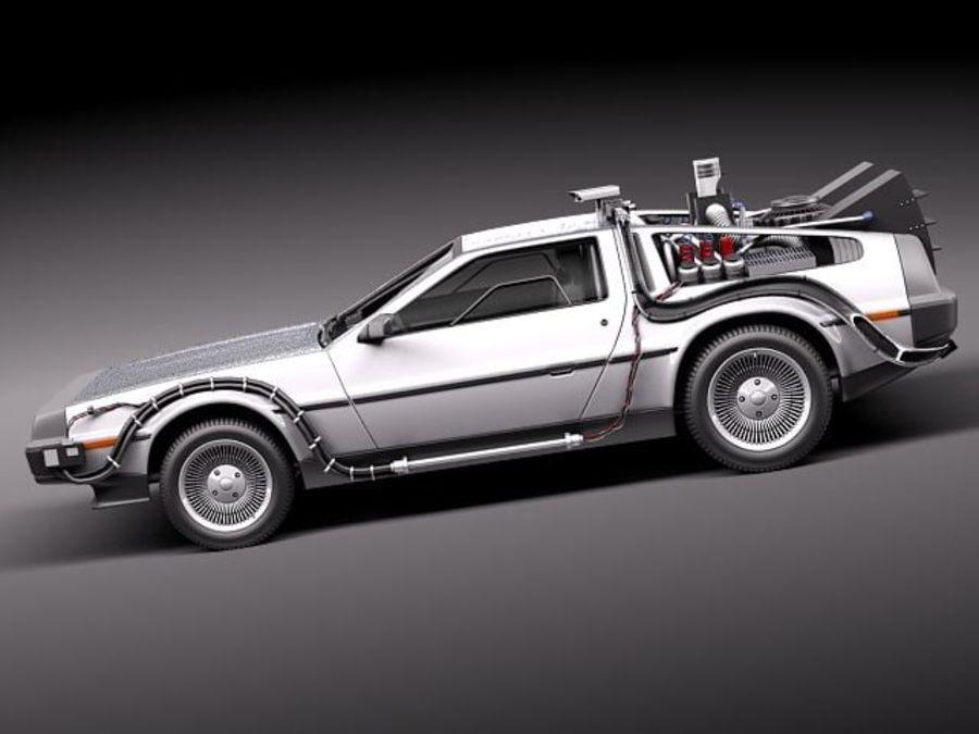 DeLorean DMC-12 Back To The Future royalty-free 3d model - Preview no. 7