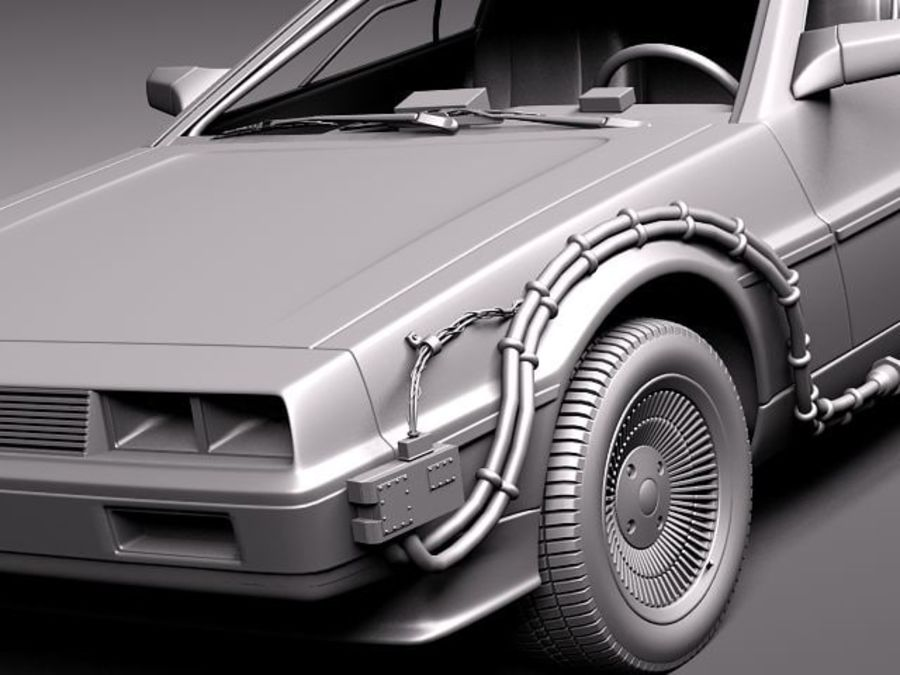 DeLorean DMC-12 Back To The Future royalty-free 3d model - Preview no. 10