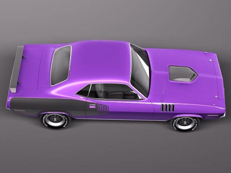 플리머스 헤미 쿠다 - 바라쿠다 1971 royalty-free 3d model - Preview no. 8