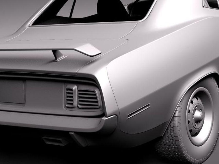 플리머스 헤미 쿠다 - 바라쿠다 1971 royalty-free 3d model - Preview no. 12