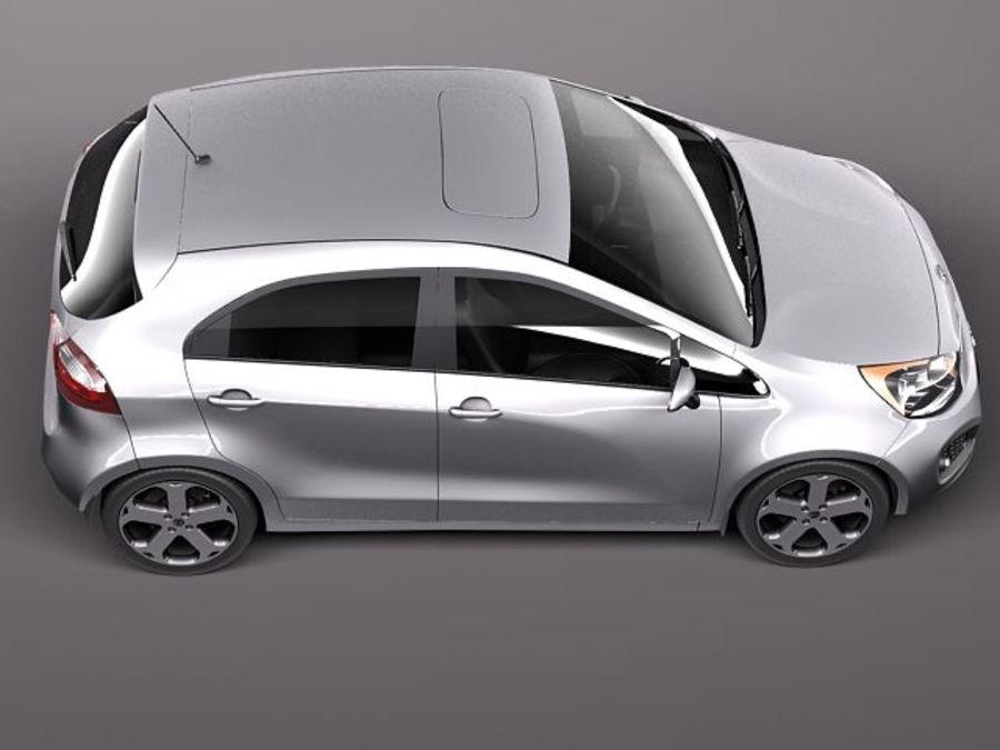 Kia Rio 2012 5door royalty-free 3d model - Preview no. 8