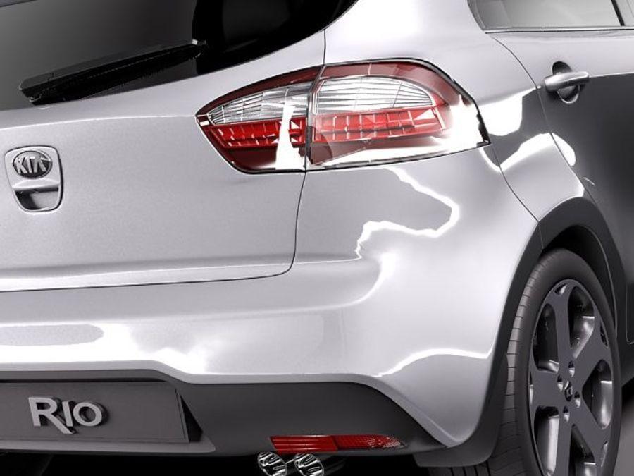 Kia Rio 2012 5door royalty-free 3d model - Preview no. 6
