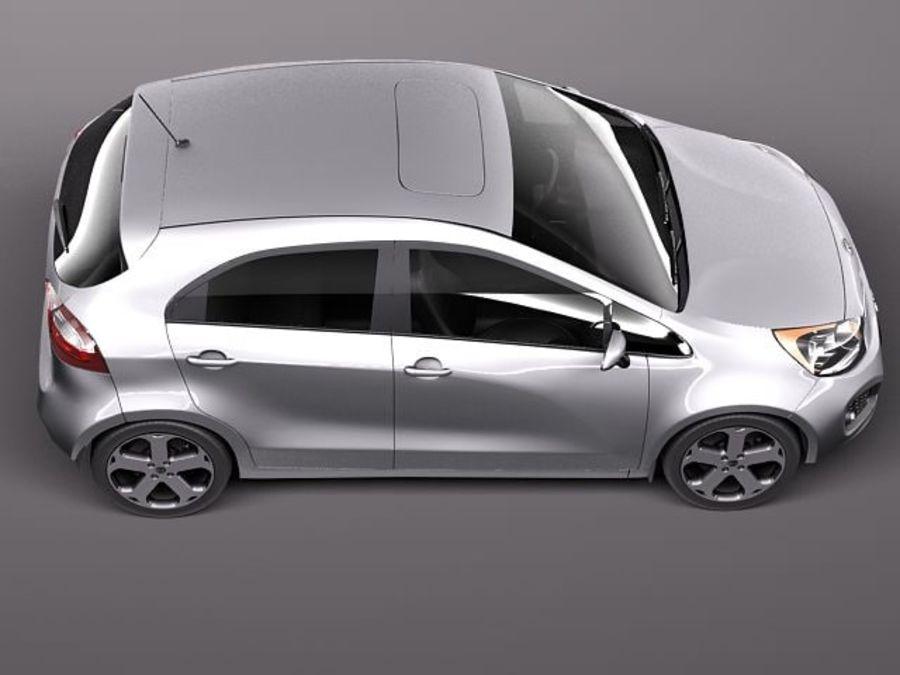 Kia Rio 2012 5 drzwi royalty-free 3d model - Preview no. 8