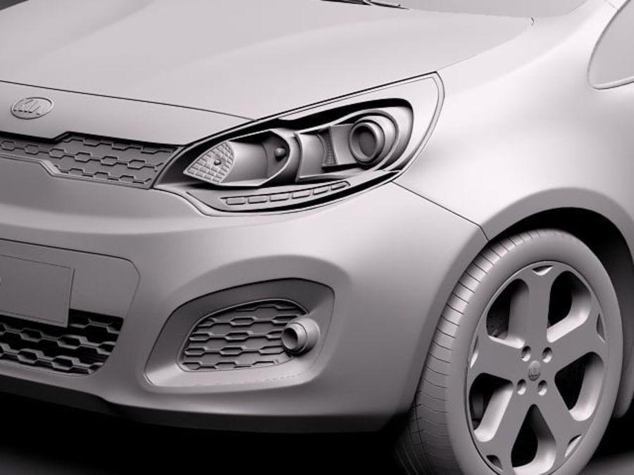 Kia Rio 2012 5 drzwi royalty-free 3d model - Preview no. 11