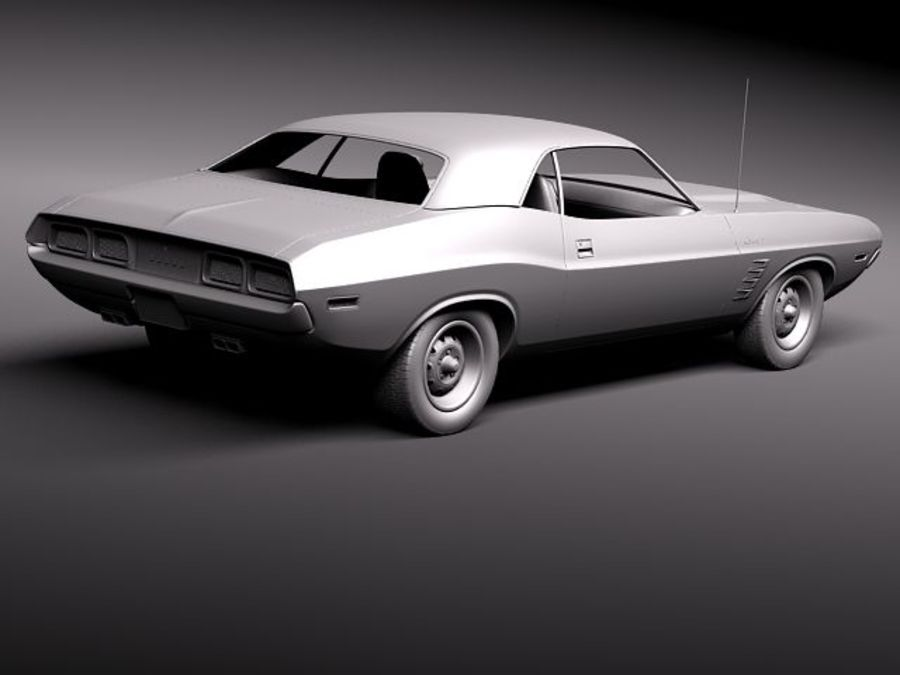 Dodge Challenger 1972-1974 royalty-free 3d model - Preview no. 10