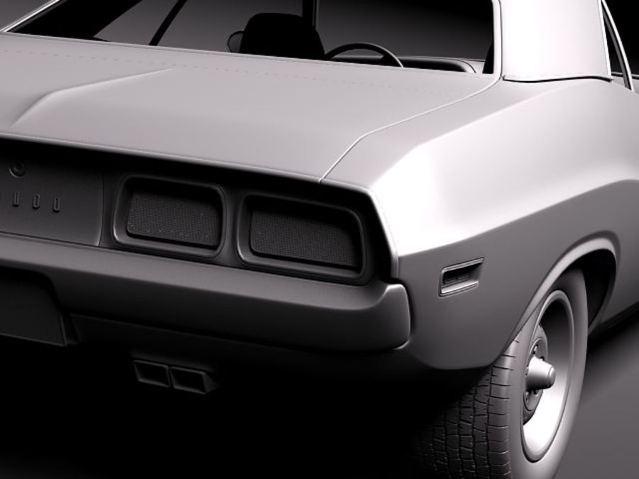 Dodge Challenger 1972-1974 royalty-free 3d model - Preview no. 11